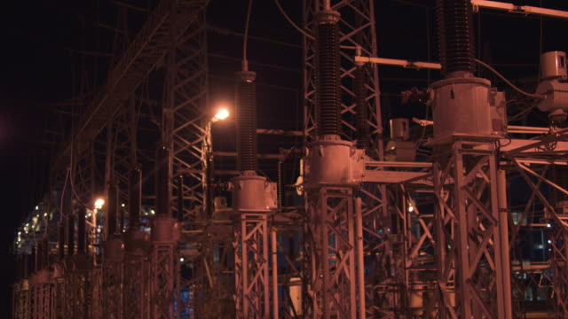 electrical substation - high voltage power station - high voltage stock videos & royalty-free footage