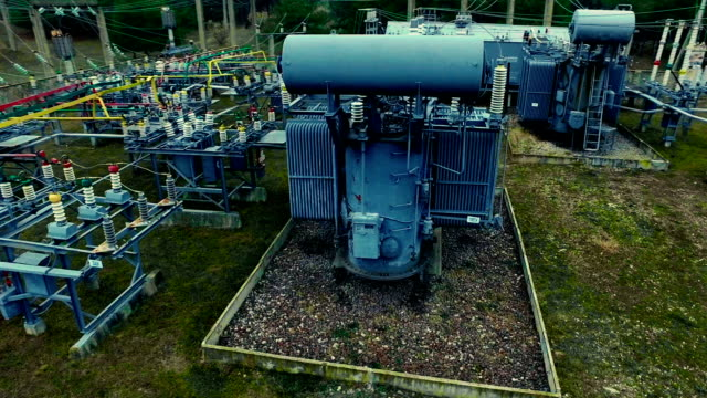 electrical substation. industrial background - transformer stock videos & royalty-free footage