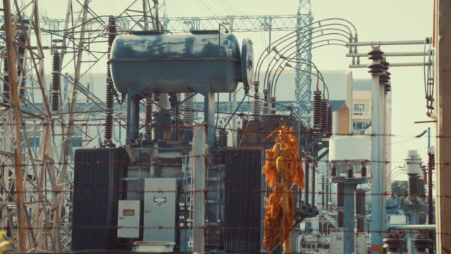 electrical substation - transformer stock videos & royalty-free footage