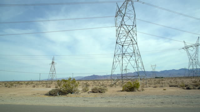 ws electrical wiring along the interstate highway - electricity pylon stock videos and b-roll footage