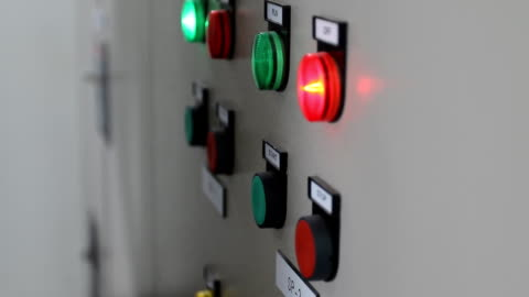 electrician press electric main control switch - control panel stock videos & royalty-free footage