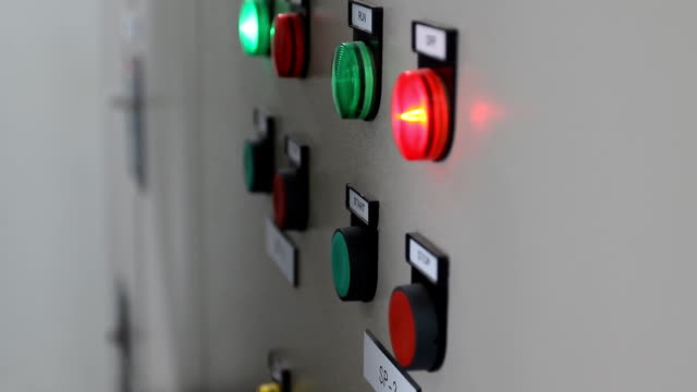 electrician press electric main control switch - start button stock videos & royalty-free footage