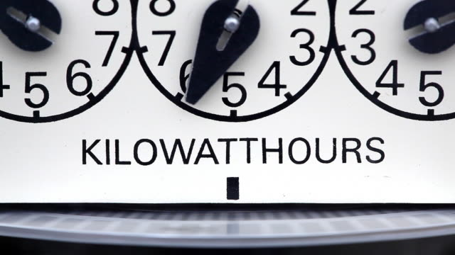 electricity - electric kilowatthour meter