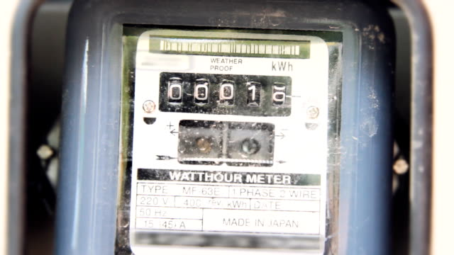 electricity house meter - electronics industry stock videos & royalty-free footage