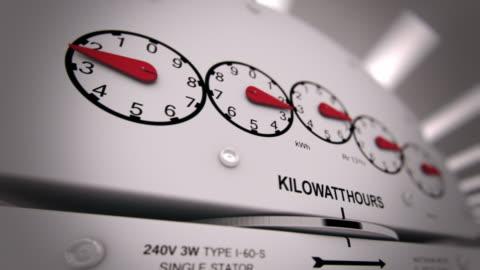 vídeos y material grabado en eventos de stock de medidor de electricidad time-lapse de vídeos generados por ordenador - alto descripción física