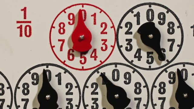 electricity meter - 計測器点の映像素材/bロール
