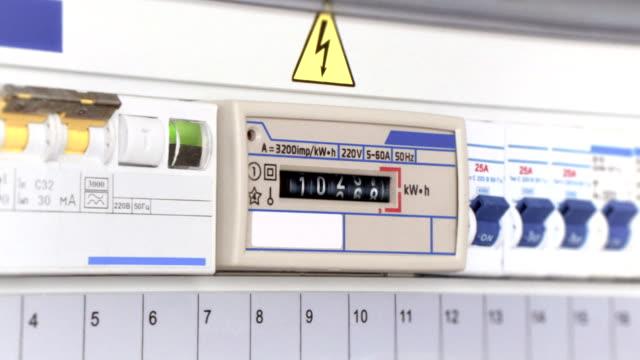 vídeos y material grabado en eventos de stock de medidor de electricidad - suministro de energía