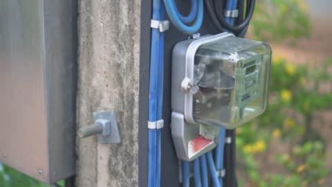 electricity meter,tilt down - tilt down stock videos & royalty-free footage