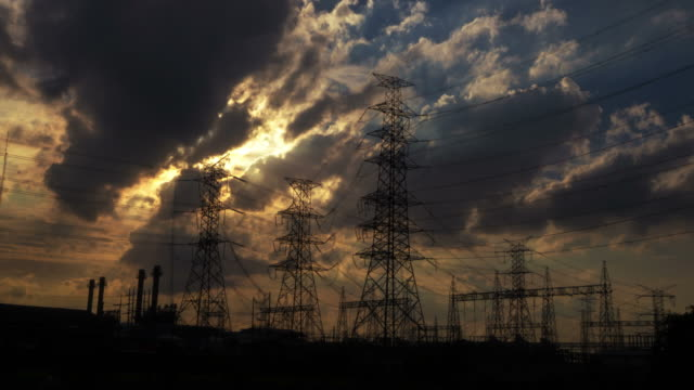 electricity power station at a sunset - conspiracy stock videos & royalty-free footage