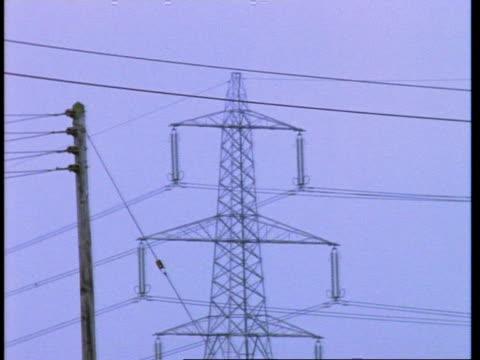 wa electricity pylon, england, uk - hochspannungsmast stock-videos und b-roll-filmmaterial