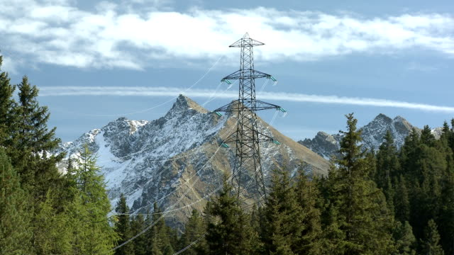 electricity pylon in th nature - cloud computing stock videos & royalty-free footage