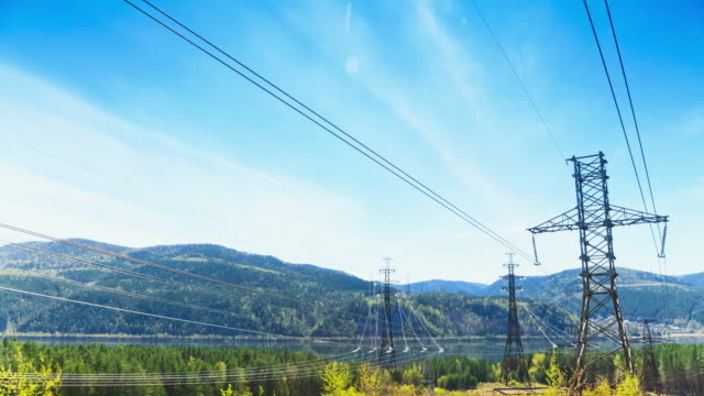 electricity pylon, timelapse - electricity pylon stock videos & royalty-free footage