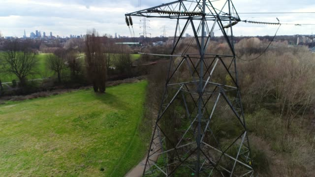 electricity pylon - electricity pylon stock videos and b-roll footage