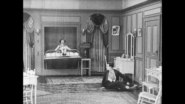 stockvideo's en b-roll-footage met 1922 electrified bedroom breaks down - tuindeur