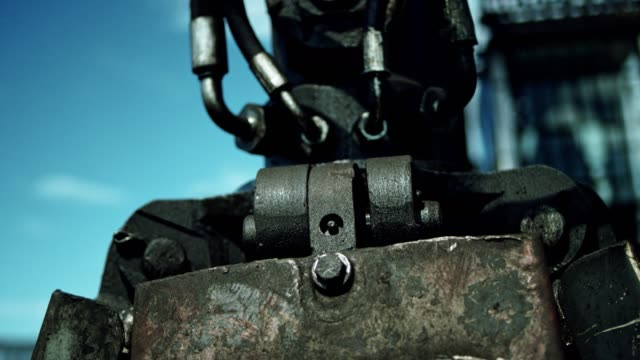electromagnet working at scrapyard - steel stock videos & royalty-free footage