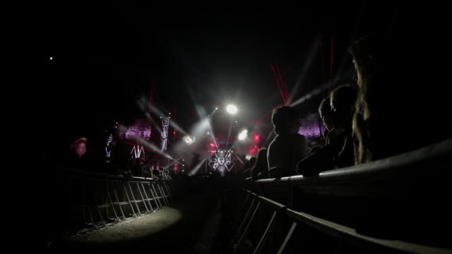 electronic and edm music festival - electronic music stock videos & royalty-free footage