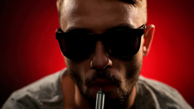 electronic cigarette smoking. e-cigarette - unhealthy living stock videos and b-roll footage