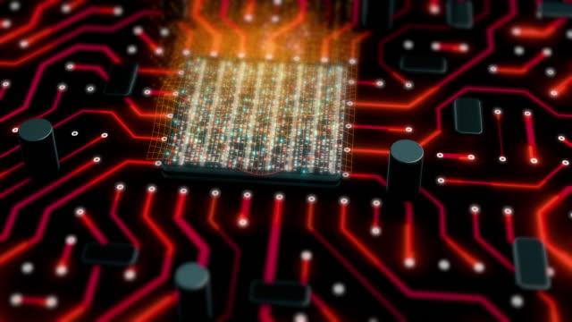 電子cpuまたは回路基板の背景 - 中央演算処理装置点の映像素材/bロール