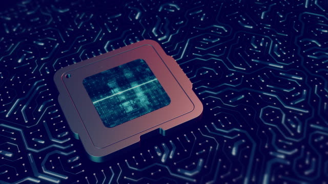 electronic cpu or circuit board backgrounds - cpu stock videos & royalty-free footage