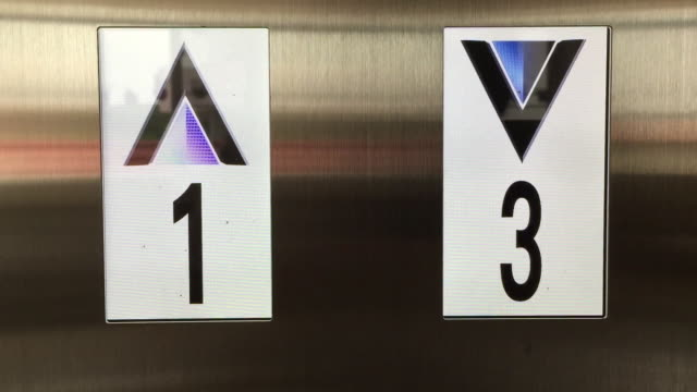 electronic lcd elevator display screen showing floor number - financial figures stock videos & royalty-free footage
