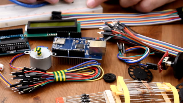 diy electronic maker, boards - model kit stock videos and b-roll footage