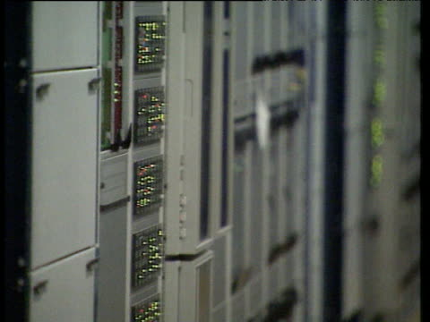 electronic switching equipment used in cell phone networks uk; 1980s - 1980 stock videos and b-roll footage