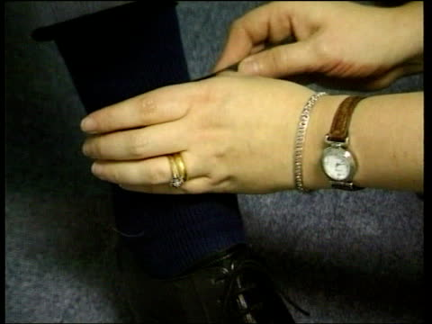 electronic tagging scheme first problem prisoners released lib tcs electronic tag being attached to ankle tcbv woman attaching tag - tag 7 stock videos & royalty-free footage