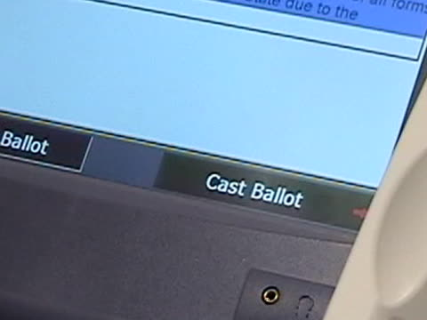 electronic voting 3: indecision - voting ballot stock videos and b-roll footage