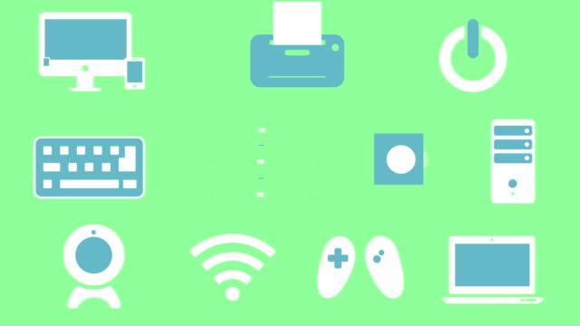 Electronics icons animation