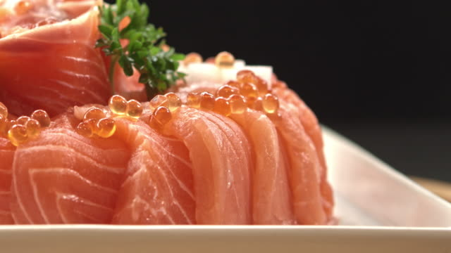 elegance japanese food - filleted stock videos & royalty-free footage