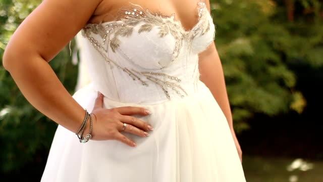 elegance - wedding dress stock videos & royalty-free footage