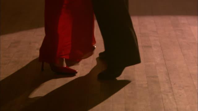 cu, tu, elegant couple dancing in ballroom, london, england - ballroom stock videos & royalty-free footage
