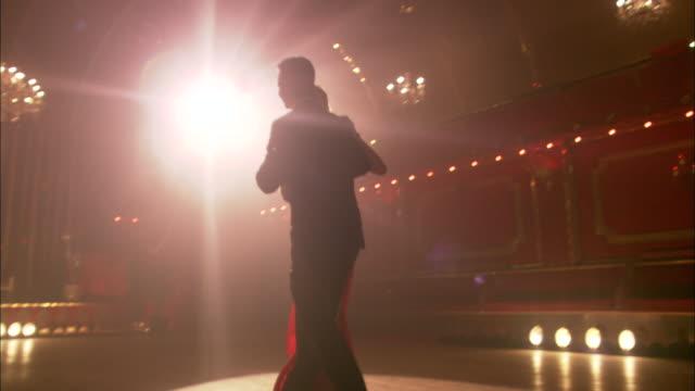 ws, ms, la, elegant couple dancing in ballroom, string quartet in background, london, england - 2009 stock videos & royalty-free footage