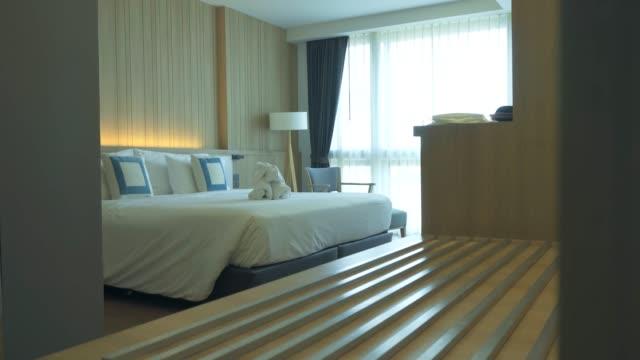 elegant hotel room - hotel room stock videos & royalty-free footage