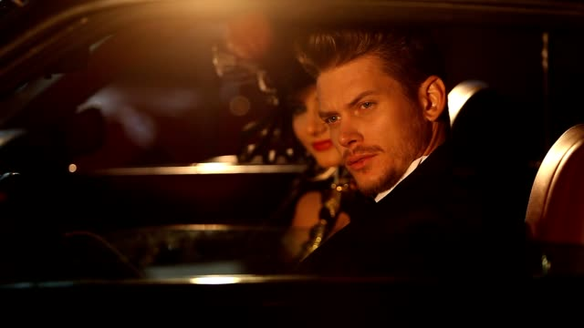 elegant man and woman  wit black dress - black dress stock videos & royalty-free footage