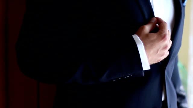 Elegant man getting ready.