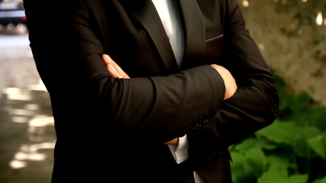 elegant man wearing a suit - tuxedo stock videos and b-roll footage