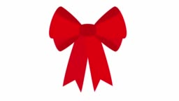 Elegant red bows from a wide ribbon. Luma Matte 2D