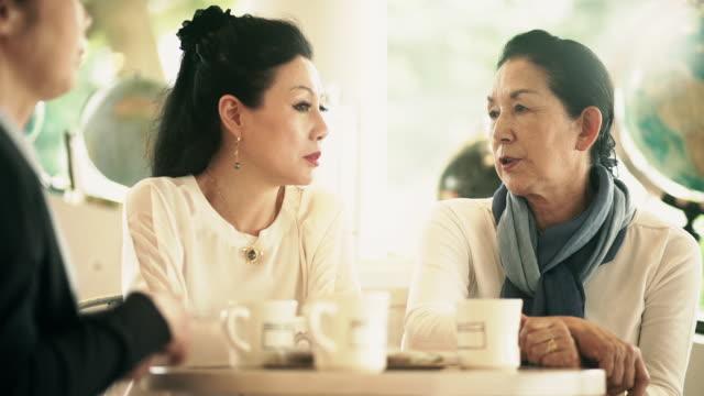 Elegant Senior Ladies in Tokyo Cafe