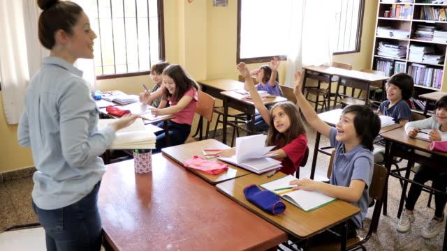 elementary school - education in latin america with female teacher - professor stock videos & royalty-free footage