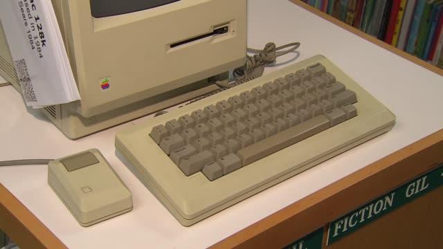 Elementary School Hosts Apple Exhibit Keyboard On Macintosh 128k Desktop Computer on November 04 2013 in Chicago Illinois