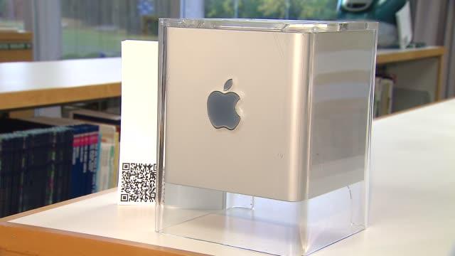 Elementary School Hosts Apple Exhibit Power Mac G4 Cube on November 04 2013 in Chicago Illinois