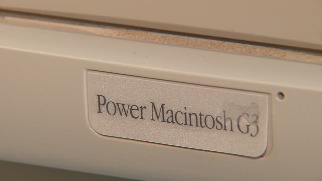 Elementary School Hosts Apple Exhibit Power Macintosh G3 on November 04 2013 in Chicago Illinois