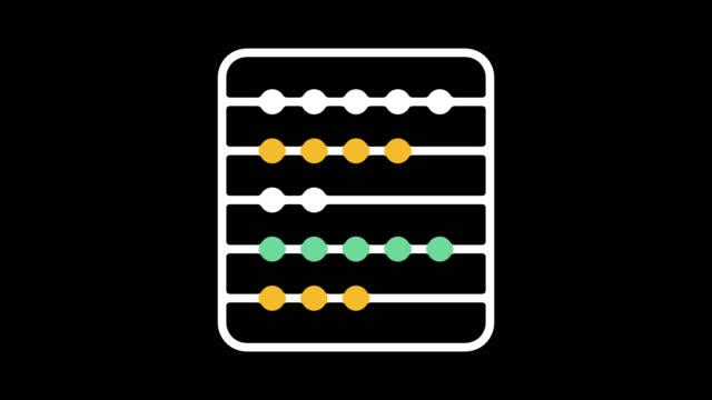 stockvideo's en b-roll-footage met basisschool lijn pictogram animatie met alpha - plusteken