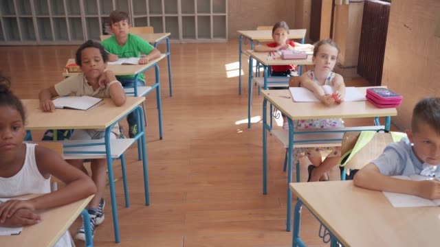 elementary school students on class - part of stock videos & royalty-free footage