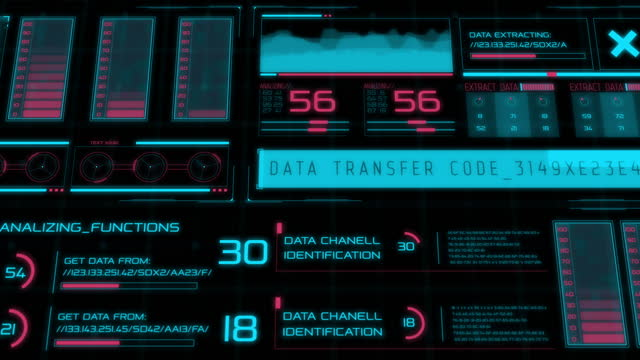 hud elements.scifi data user interface.digital infographic elements. - deep learning stock videos & royalty-free footage