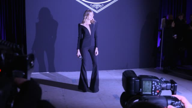 elena perminova at atelier versace paris fashion week haute couture 2016 on january 24 2016 in paris france - atelier fashion stock videos & royalty-free footage