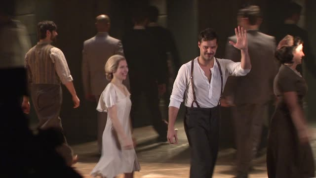 elena roger and ricky martin at evita broadway revival curtain call and press conference on in new york - revival stock videos & royalty-free footage