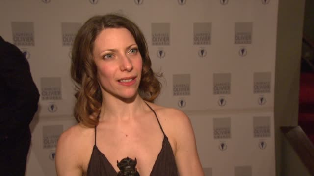 Elena Roger on getting the award at the Laurence Olivier Awards 2009 at London