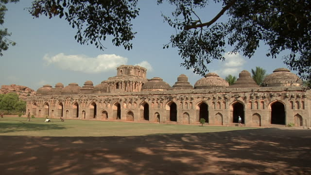 WS Elephant Stable, which was once home to the royal herd/ Hampi, Karnataka, India